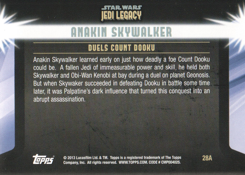2013-Topps-Star-Wars-Jedi-Legacy-Parallels-Trading-Cards-Pick-From-List miniature 153