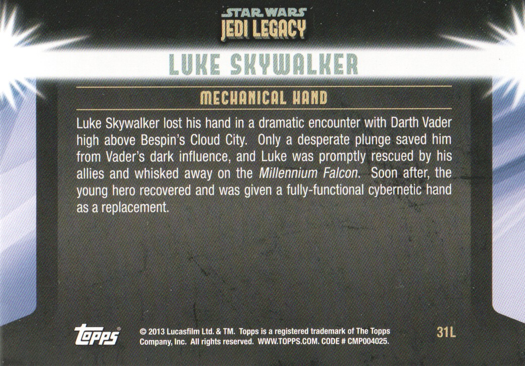 2013-Topps-Star-Wars-Jedi-Legacy-Parallels-Trading-Cards-Pick-From-List miniature 155