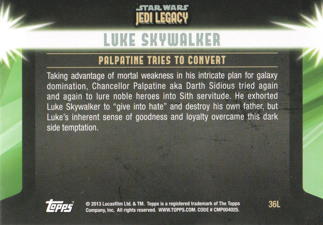 2013-Topps-Star-Wars-Jedi-Legacy-Parallels-Trading-Cards-Pick-From-List miniature 159