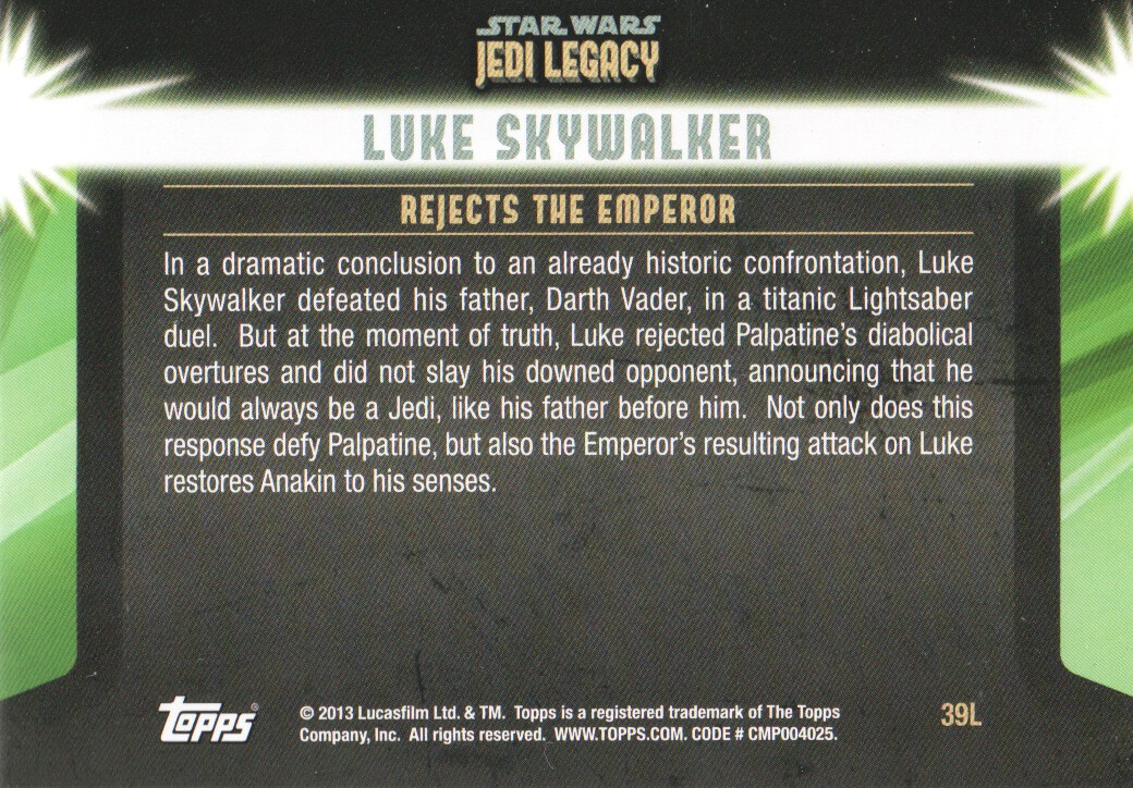 2013-Topps-Star-Wars-Jedi-Legacy-Parallels-Trading-Cards-Pick-From-List miniature 161