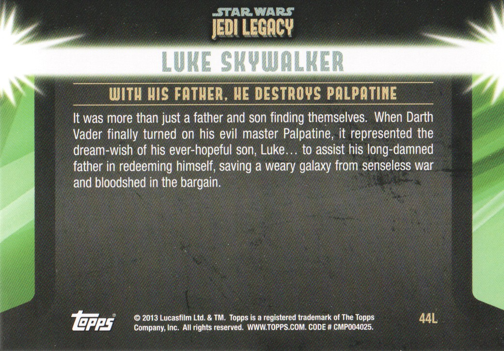 2013-Topps-Star-Wars-Jedi-Legacy-Parallels-Trading-Cards-Pick-From-List miniature 163