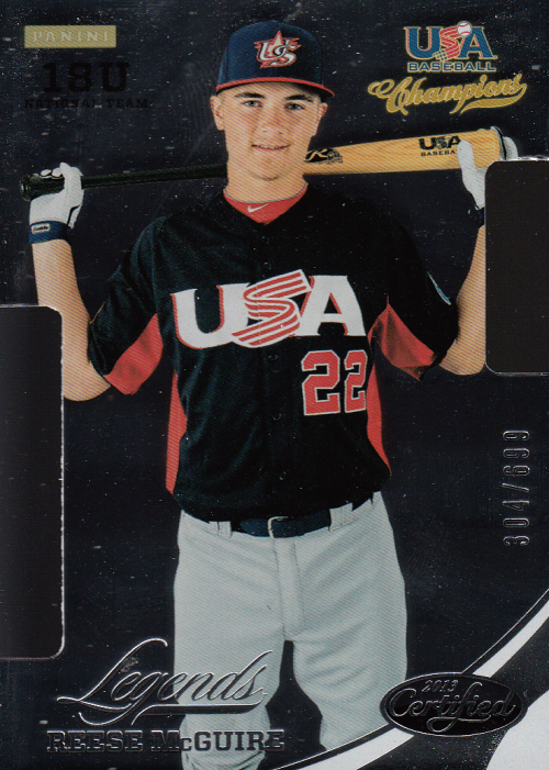 2013 USA Baseball Champions Legends Certified Die-Cuts #38 Reese McGuire