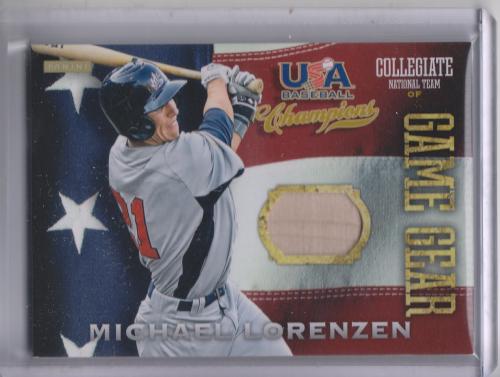 2013 USA Baseball Champions Game Gear Bats #9 Michael Lorenzen