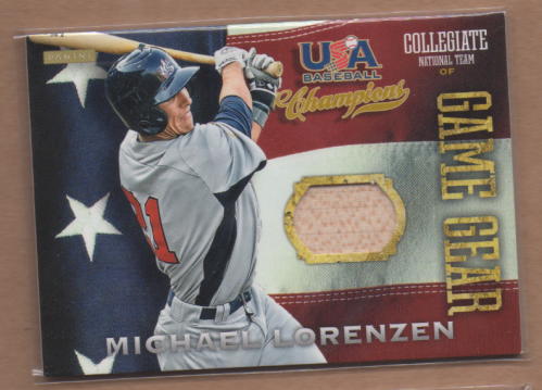 2013 USA Baseball Champions Game Gear Bats #9 Michael Lorenzen
