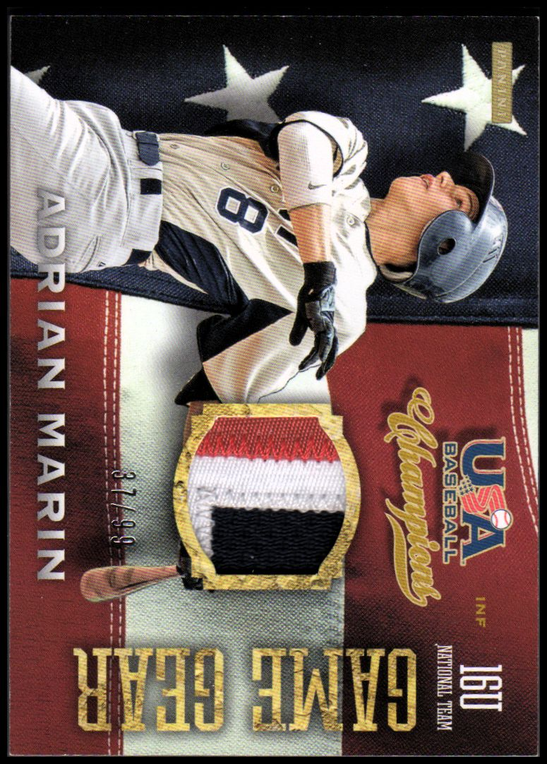 2013 USA Baseball Champions Game Gear Jerseys Prime #57 Adrian Marin/99