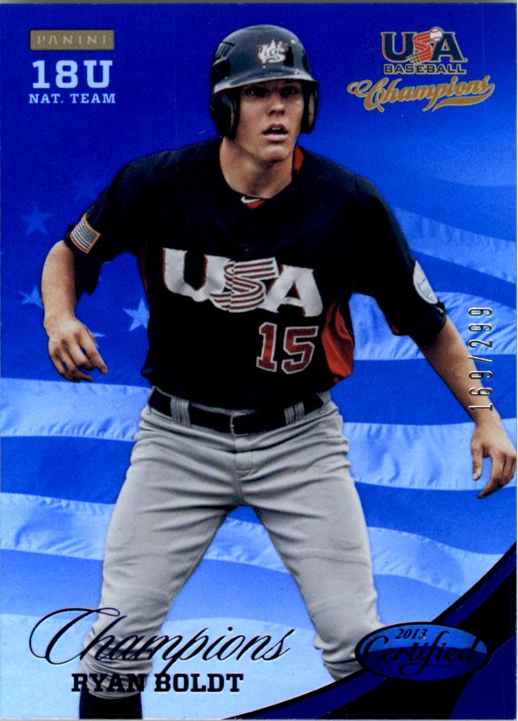 2013 USA Baseball Champions National Team Mirror Blue #152 Ryan Boldt