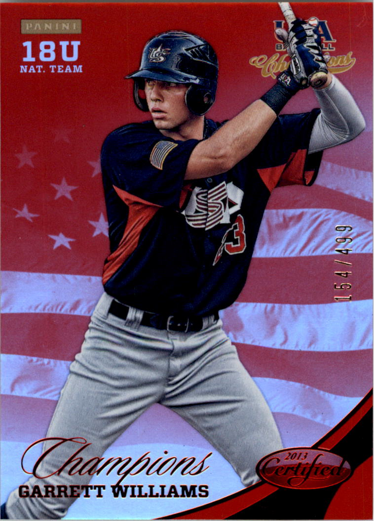 2013 USA Baseball Champions National Team Mirror Red #167 Garrett Williams