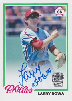 2013 Topps Archives Fan Favorites Autographs #LB Larry Bowa
