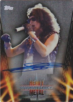 2013 Topps Archives Heavy Metal Autographs Metal #SP Stephen Pearcy