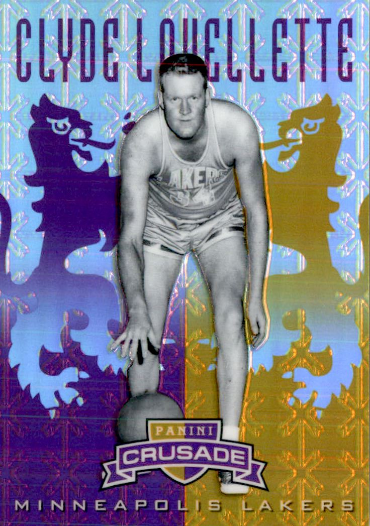 2012-13 Panini Crusade Insert Purple #108 Clyde Lovellette