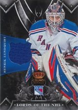 2012-13 Crown Royale Lords of the NHL Materials #LNHL Henrik Lundqvist SP