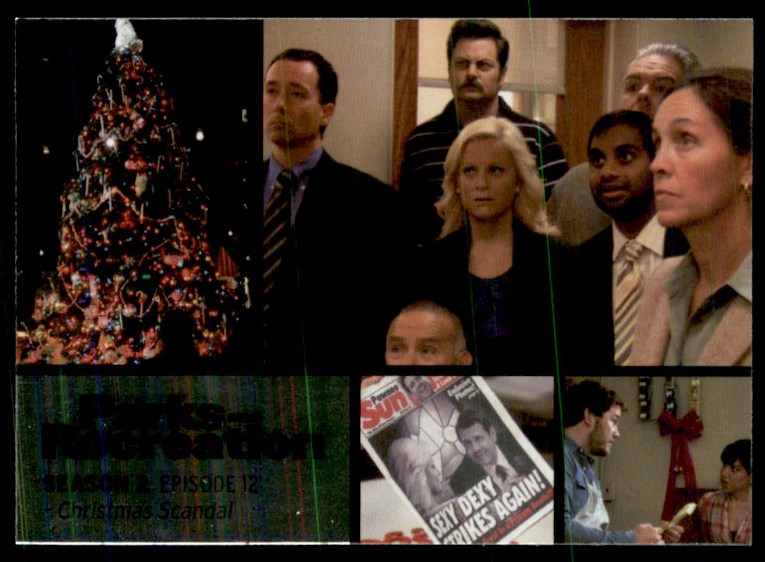 Parks And Rec Christmas Episodes.Details About 2013 Parks And Recreation Foil 18 Christmas Scandal