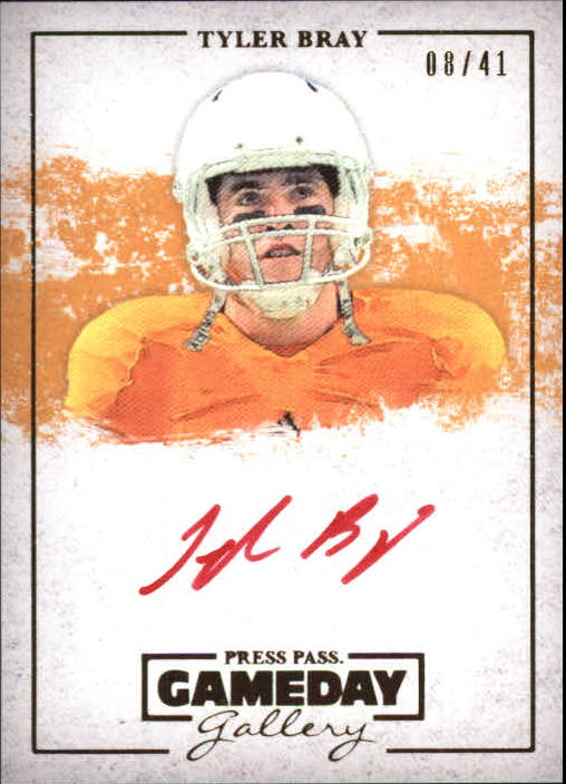 2013 Press Pass Gameday Gallery Gold Red Ink #TB Tyler Bray/41
