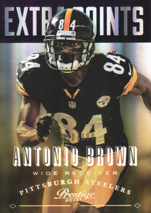 2013 Prestige Extra Points Purple #153 Antonio Brown