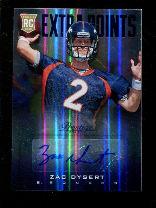 2013 Prestige Extra Points Blue Autographs #299 Zac Dysert