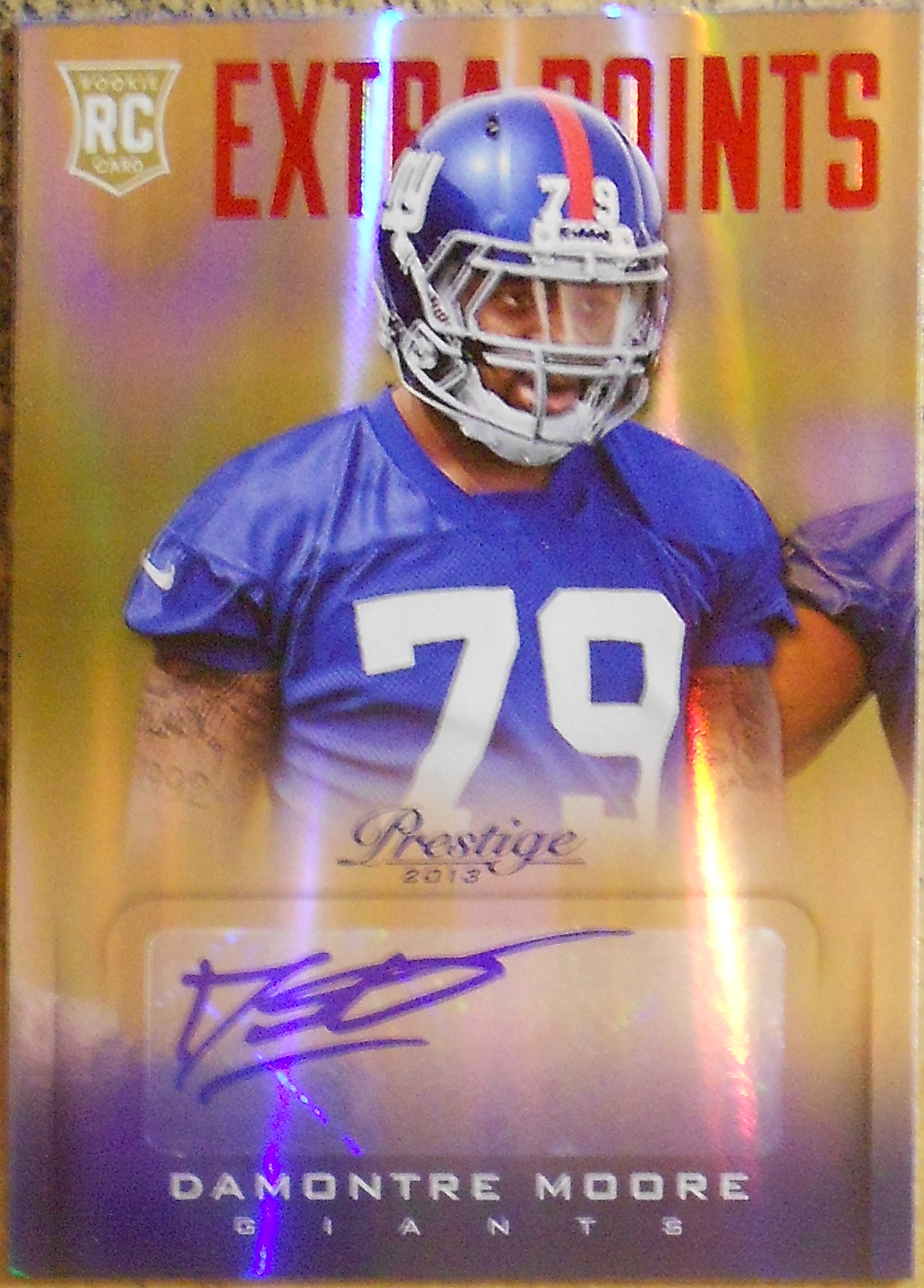2013 Prestige Extra Points Red Autographs #222 Damontre Moore