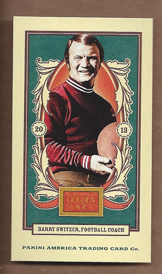 2013 Panini Golden Age Mini American Caramel Red Back #131 Barry Switzer