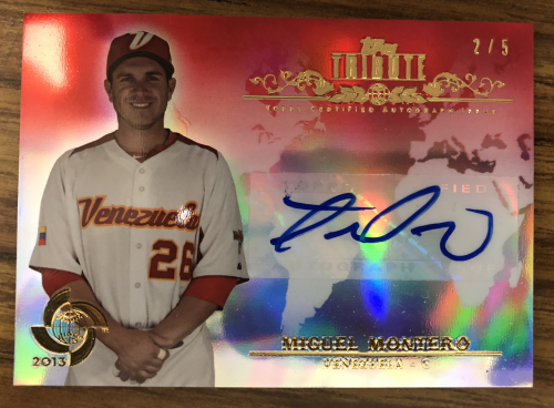 2013 Topps Tribute WBC Autographs Red #MM2 Miguel Montero