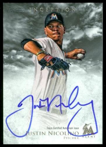 2013 Bowman Inception Prospect Autographs #JN Justin Nicolino