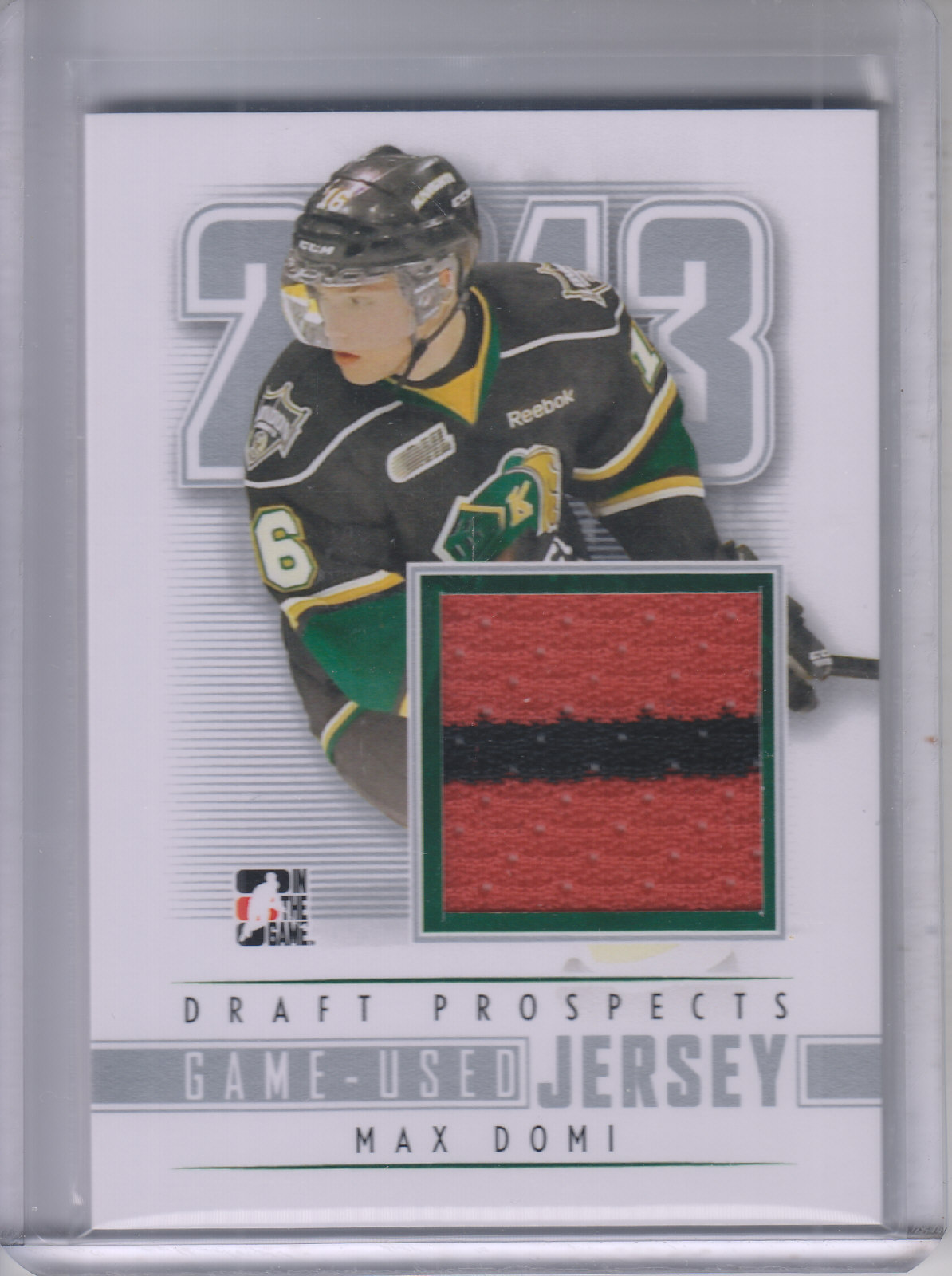 2012-13 ITG Draft Prospects Jerseys #M19 Max Domi