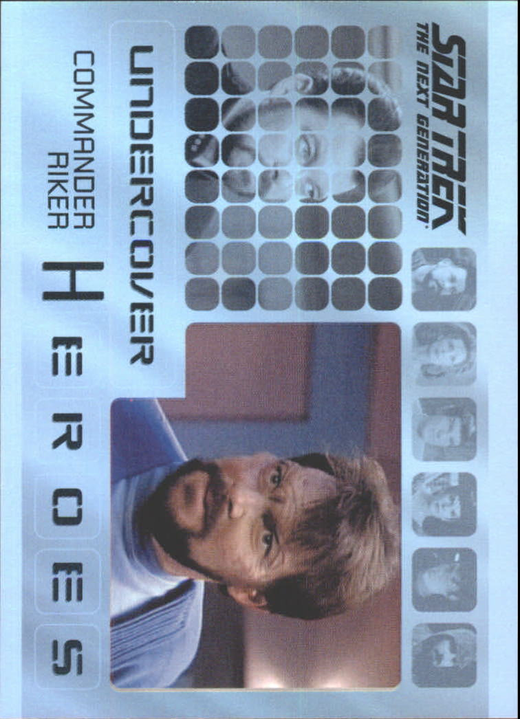 2013 Star Trek The Next Generation Heroes and Villains Undercover Heroes #H3 Commander Riker/ Malcorian in First Contact