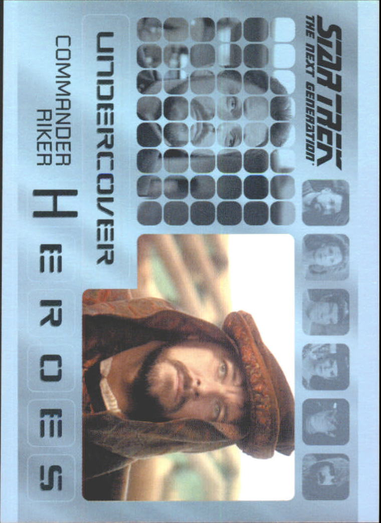 2013 Star Trek The Next Generation Heroes and Villains Undercover Heroes #H7 Commander Riker/ Barkonian in Thine Own Self