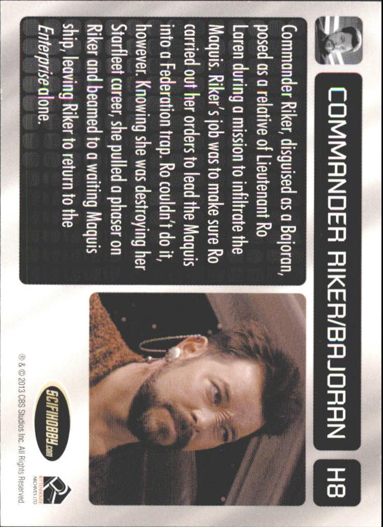 2013 Star Trek The Next Generation Heroes and Villains Undercover Heroes #H8 Commander Riker/ Bajoran in Preemptive Strike back image