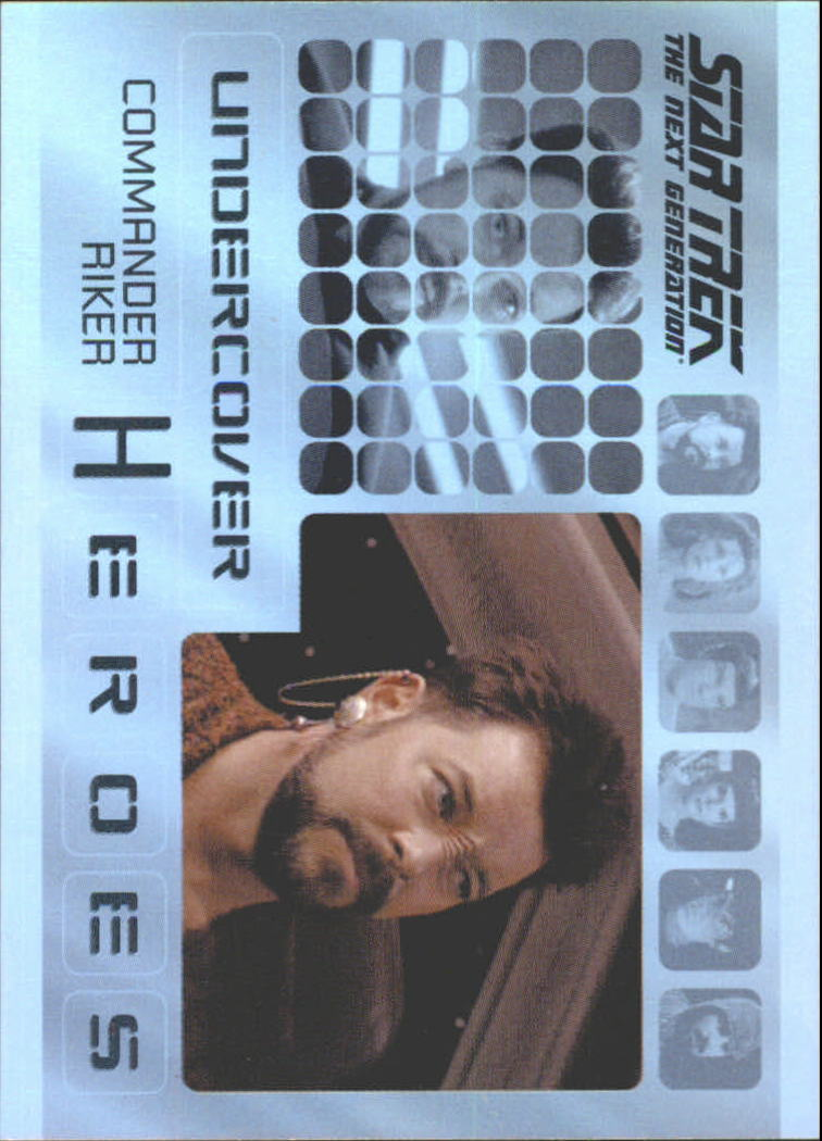 2013 Star Trek The Next Generation Heroes and Villains Undercover Heroes #H8 Commander Riker/ Bajoran in Preemptive Strike