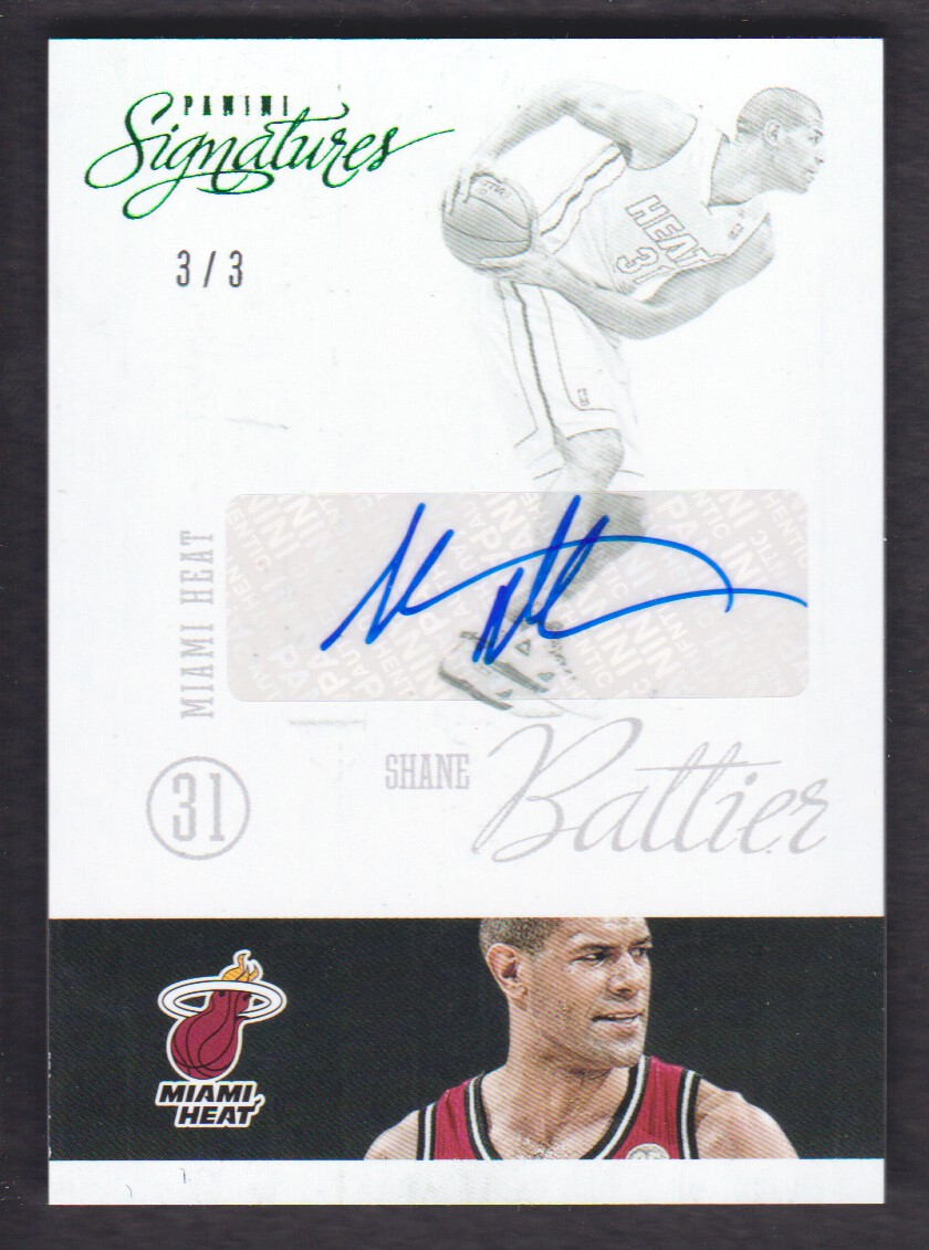2012-13 Panini Signatures Green #170 Shane Battier/3