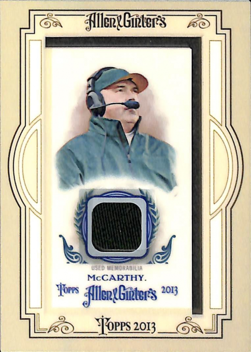 2013 Topps Allen and Ginter Framed Mini Relics #MMC Mike McCarthy