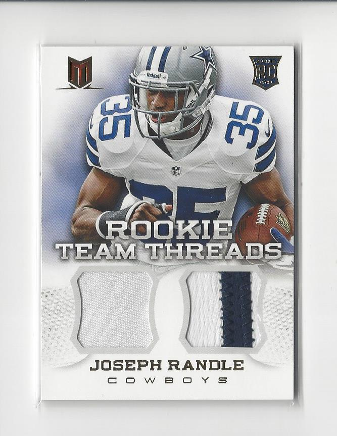 best loved fda73 afad4 Details about 2013 Momentum Rookie Team Threads Joseph Randle PATCH Cowboys  /49