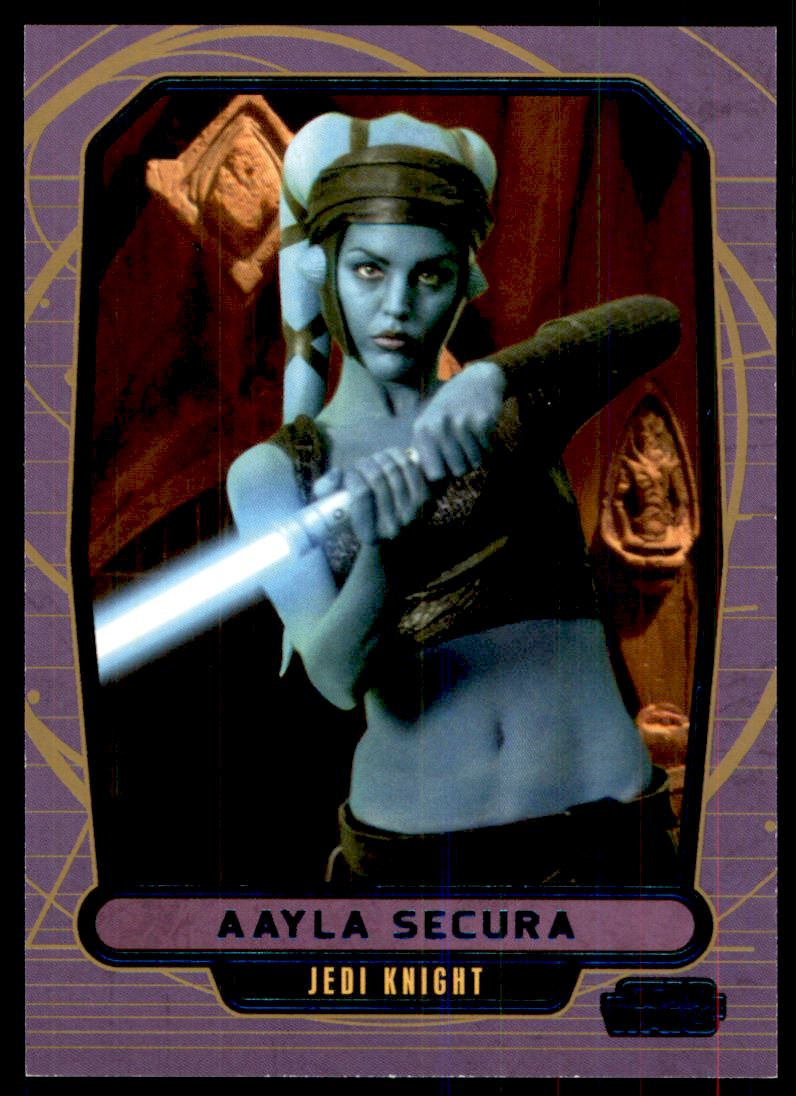 2013 Star Wars Galactic Files 2 Blue Foil #424 Aayla Secura