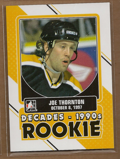 2013 14 Itg Decades 1990s Rookies Dr22 Joe Thornton Nm Mt