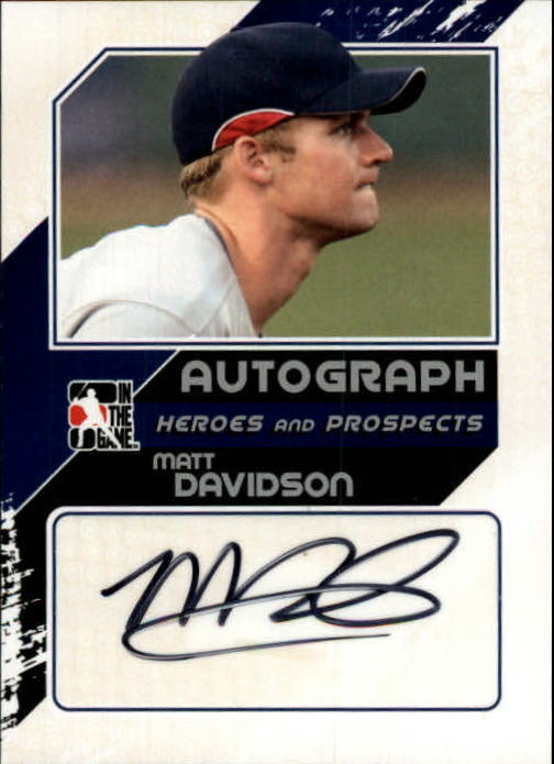 2011 ITG Heroes and Prospects Close Up Autographs Silver #MD2 Matt Davidson HN