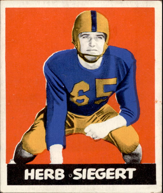 1948 Leaf #88B Herb Siegert DYP RC/(dark yellow pants)