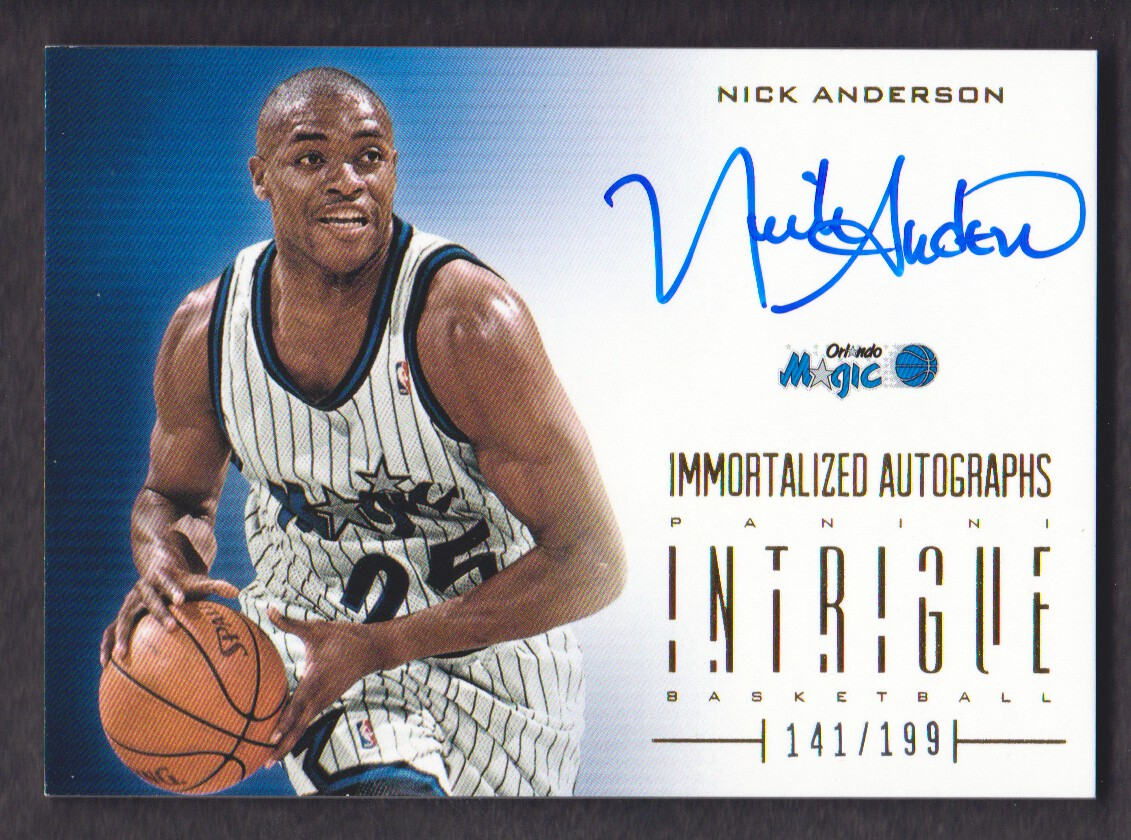 2012-13 Panini Intrigue Immortalized Autographs #12 Nick Anderson/199
