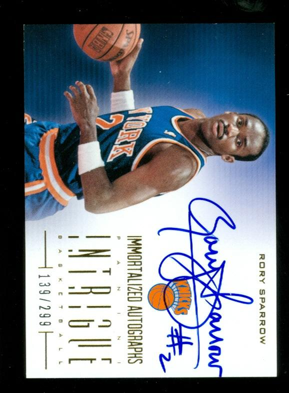 2012-13 Panini Intrigue Immortalized Autographs #16 Rory Sparrow/299