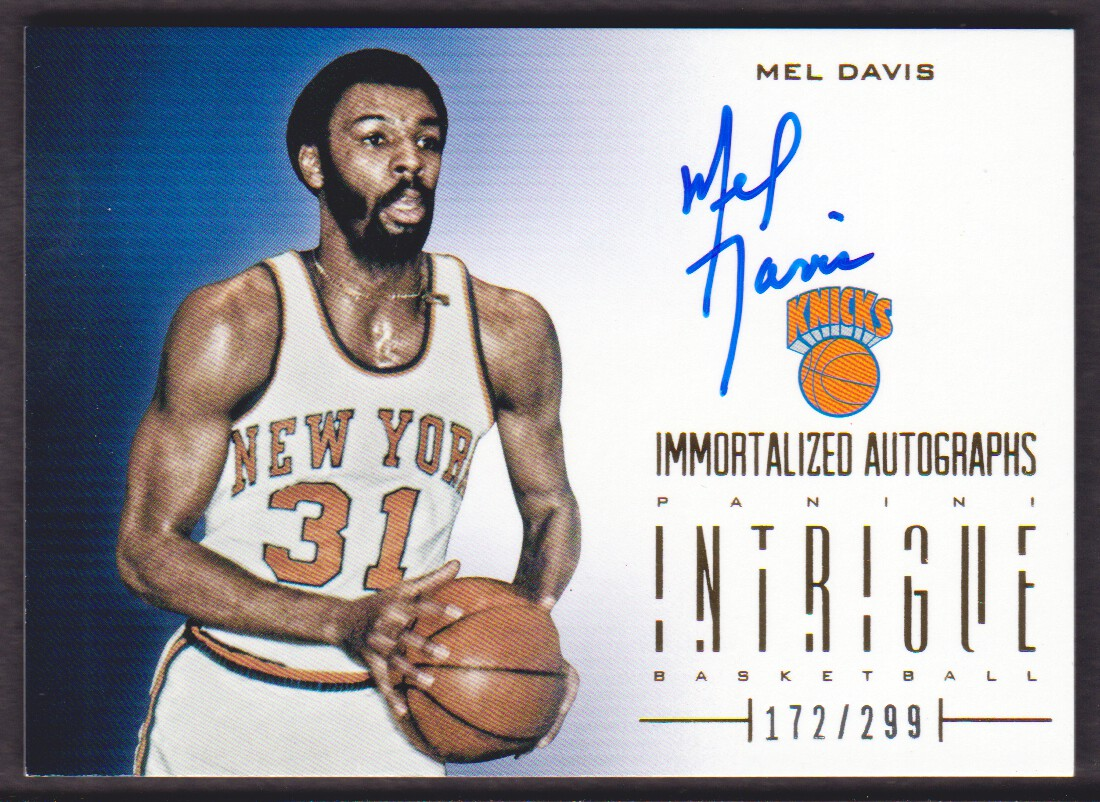 2012-13 Panini Intrigue Immortalized Autographs #20 Mel Davis/299