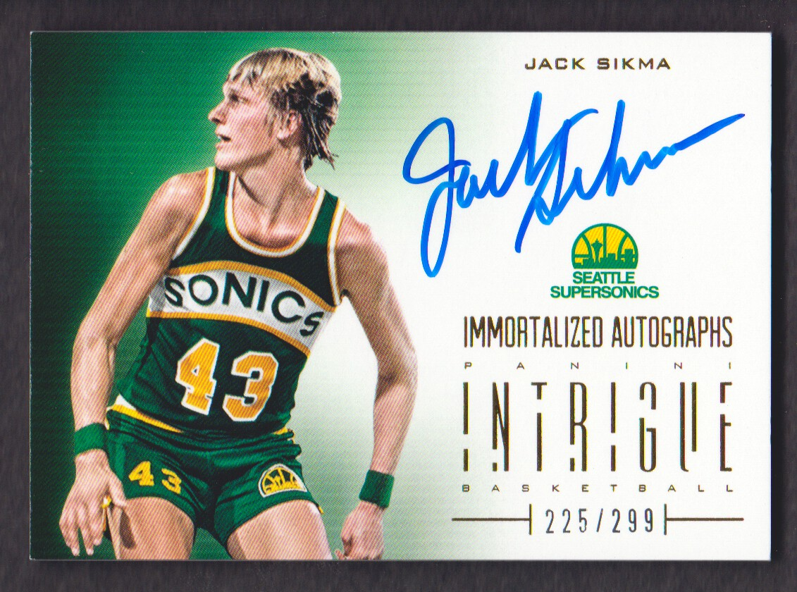 2012-13 Panini Intrigue Immortalized Autographs #21 Jack Sikma/299