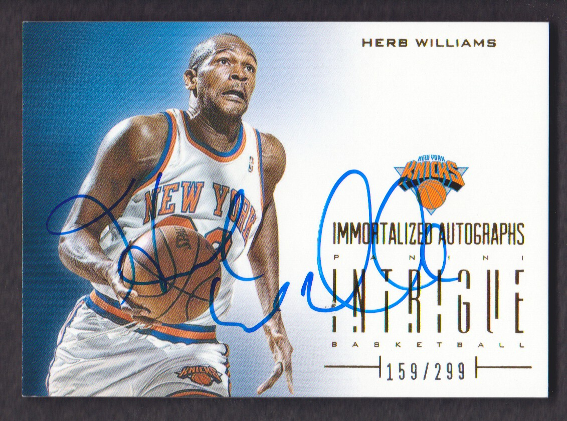 2012-13 Panini Intrigue Immortalized Autographs #46 Herb Williams/299