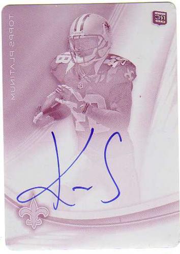 2013 Topps Platinum Rookie Autographs Printing Plates Magenta #AKS Kenny Stills