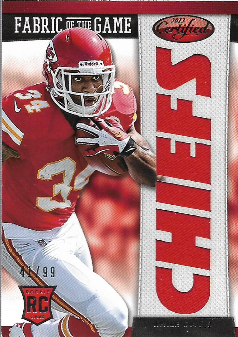 2013 Certified Rookie Fabric of the Game Team Die Cut #18 Knile ...