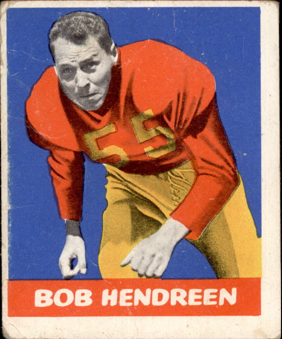 1948 Leaf #65B Bob Hendren DYP RC/(dark yellow pants)