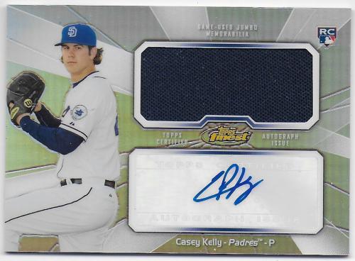2013 Finest Rookie Jumbo Relic Autographs Refractors #CK Casey Kelly