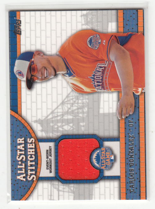 2013 Topps Update Series All-Star Stitches #ASR-CG Carlos Gonzalez Baseball Card