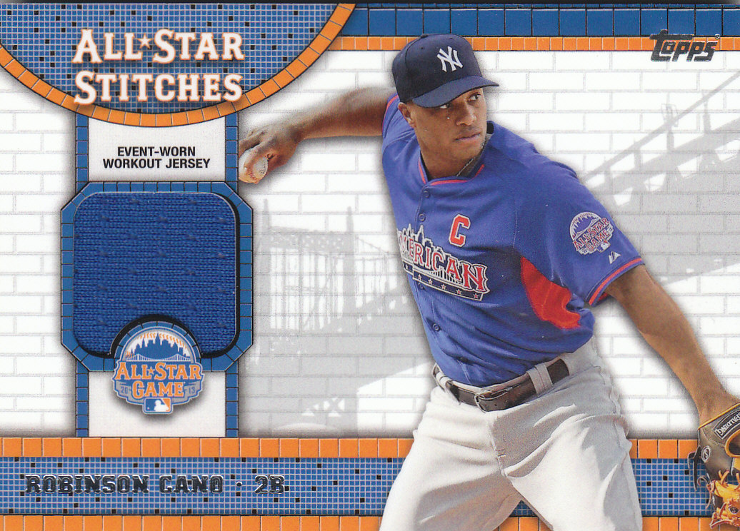 2013 Topps Update All Star Stitches #RC Robinson Cano