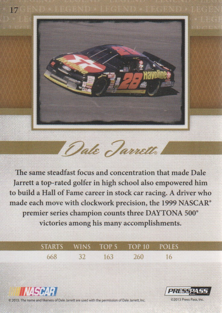 2013-Press-Pass-Legends-Parallels-NASCAR-Racing-Cards-Pick-From-List thumbnail 3