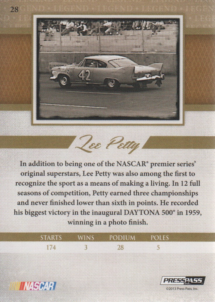 2013-Press-Pass-Legends-Parallels-NASCAR-Racing-Cards-Pick-From-List thumbnail 7