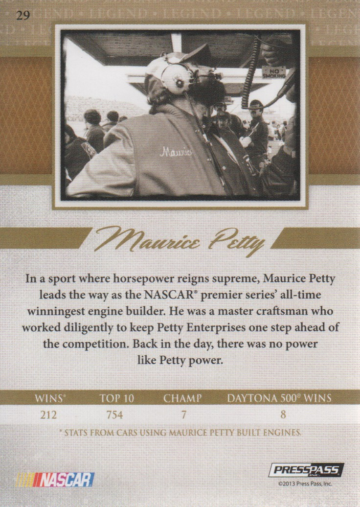 2013-Press-Pass-Legends-Parallels-NASCAR-Racing-Cards-Pick-From-List thumbnail 9