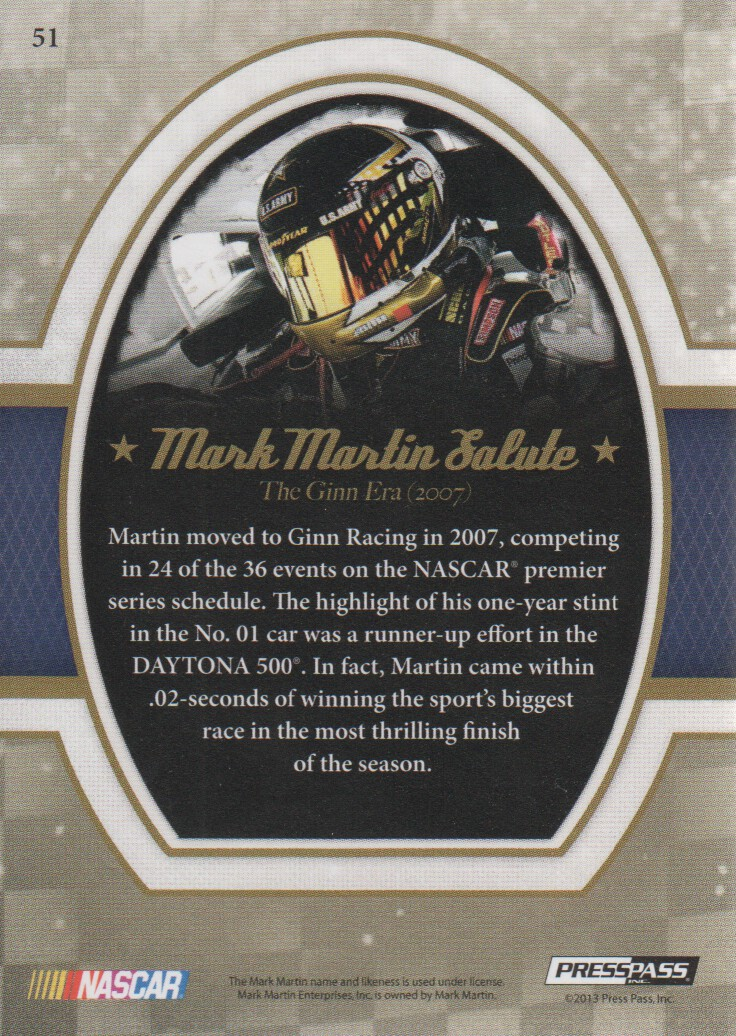 2013-Press-Pass-Legends-Parallels-NASCAR-Racing-Cards-Pick-From-List thumbnail 11